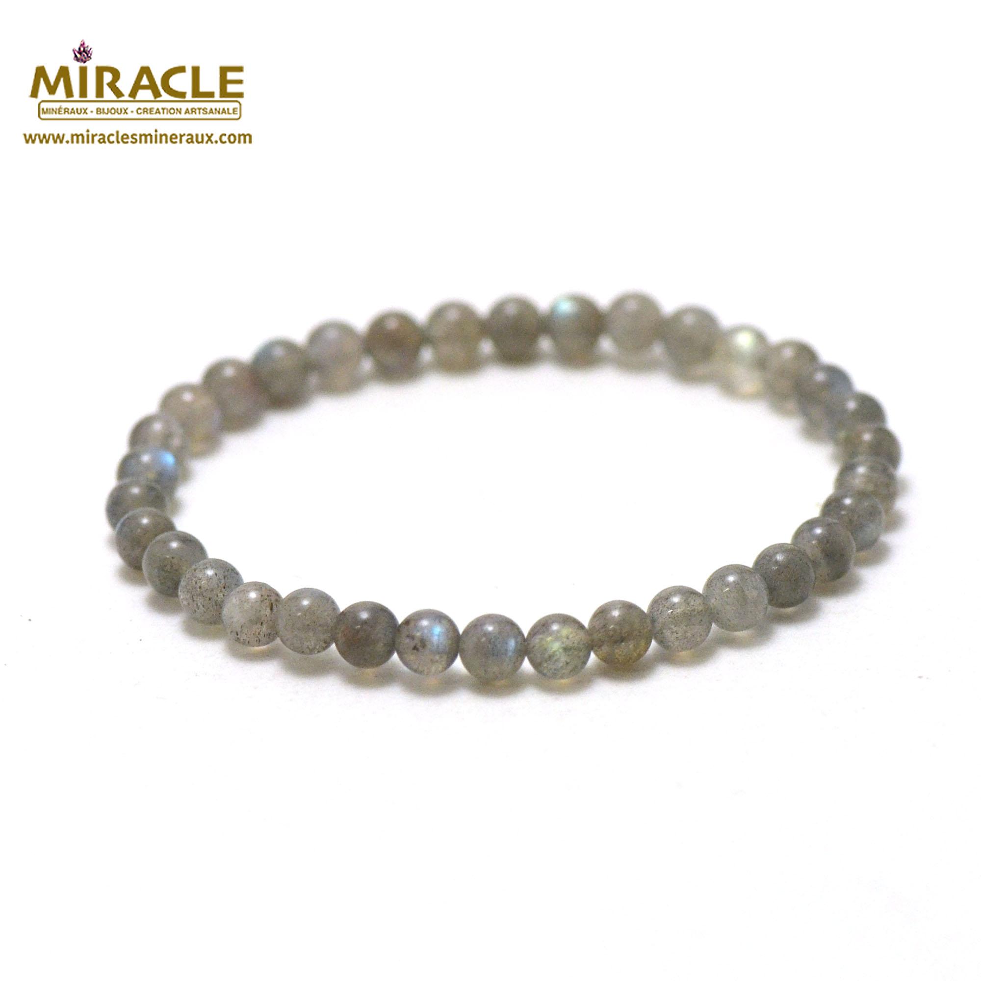 bracelet labradorite, perle ronde 4-5 mm AA