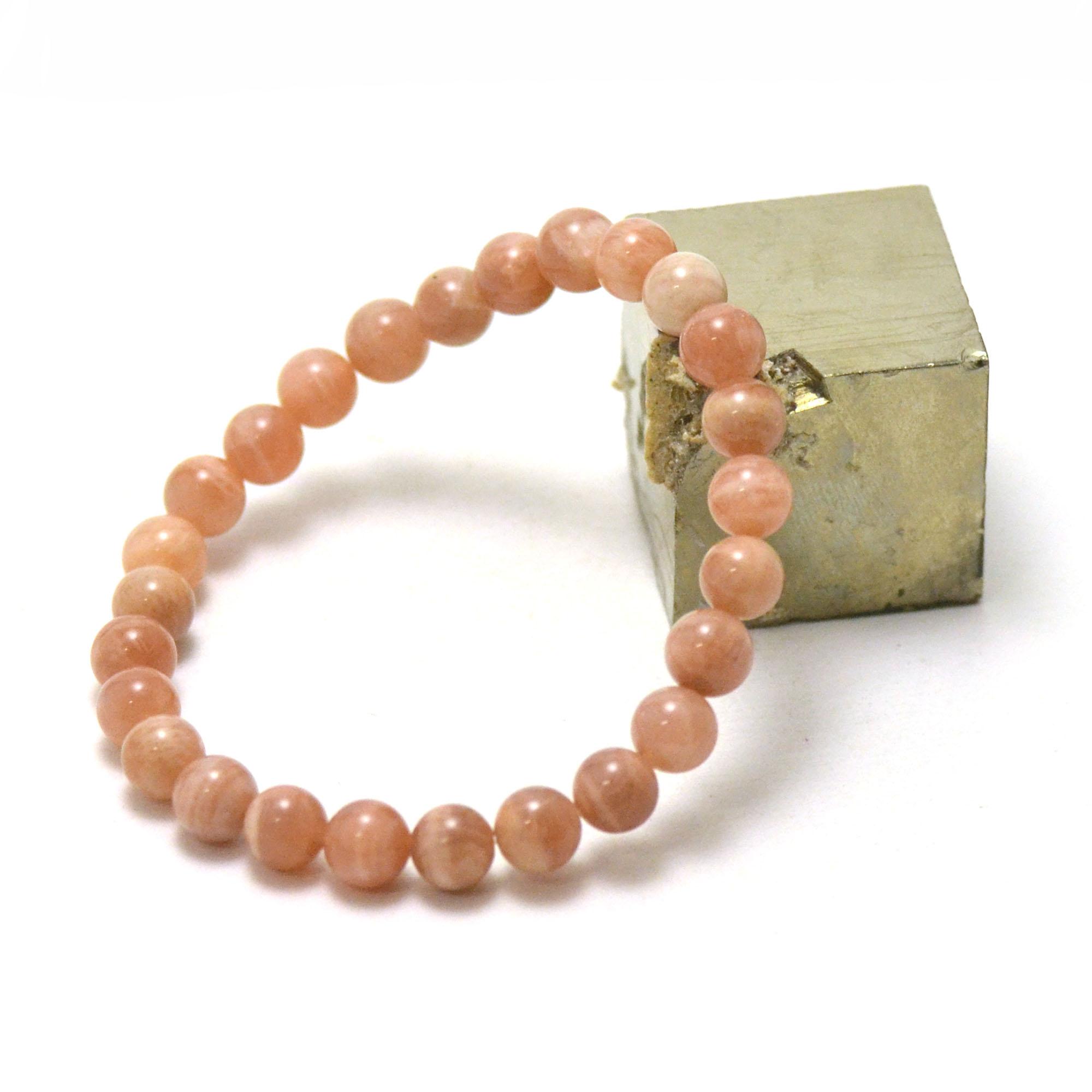 Bracelet pierre de soleil ronde 7-8 mm