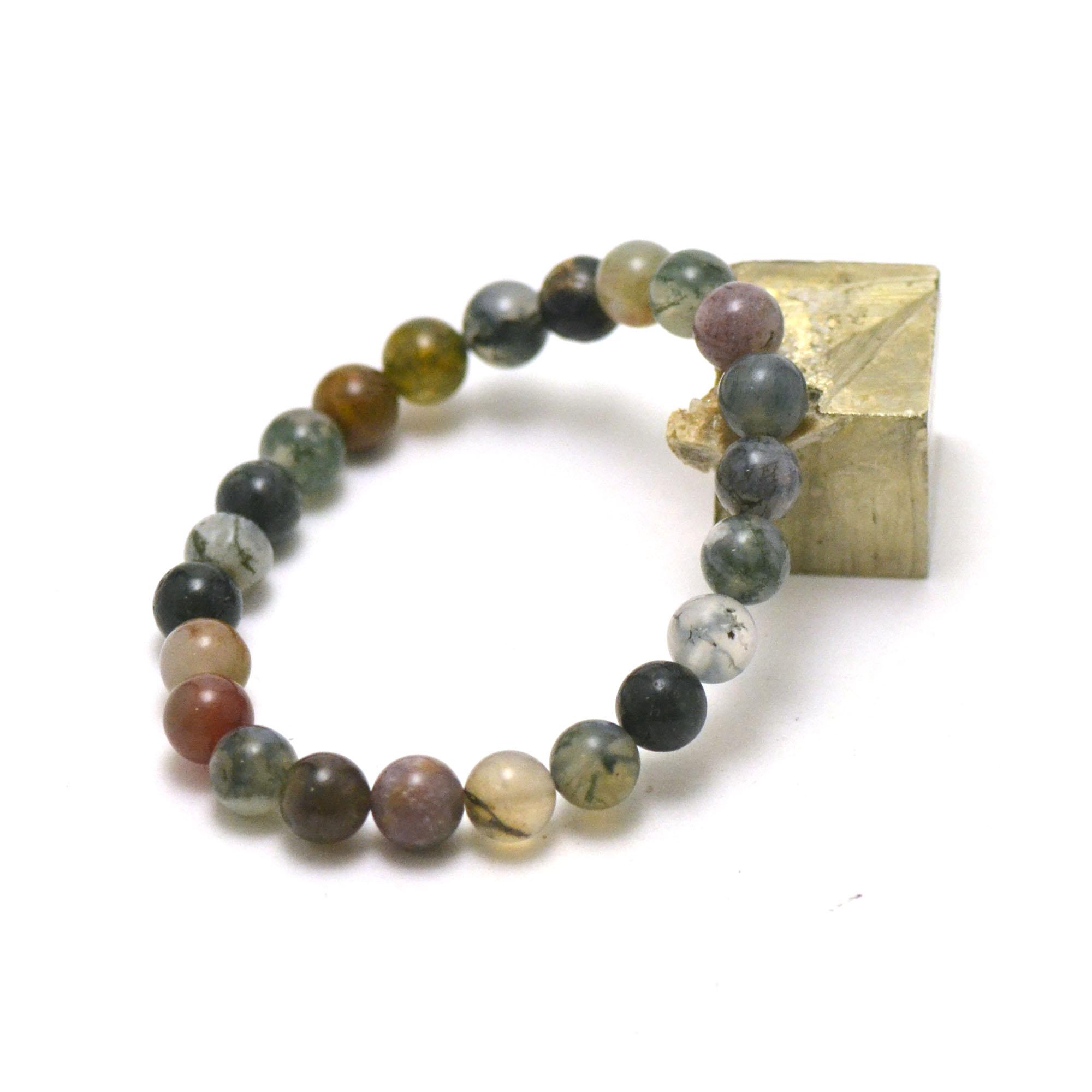 ronde 8 mm 1 en pierre naturelle d'agate indien