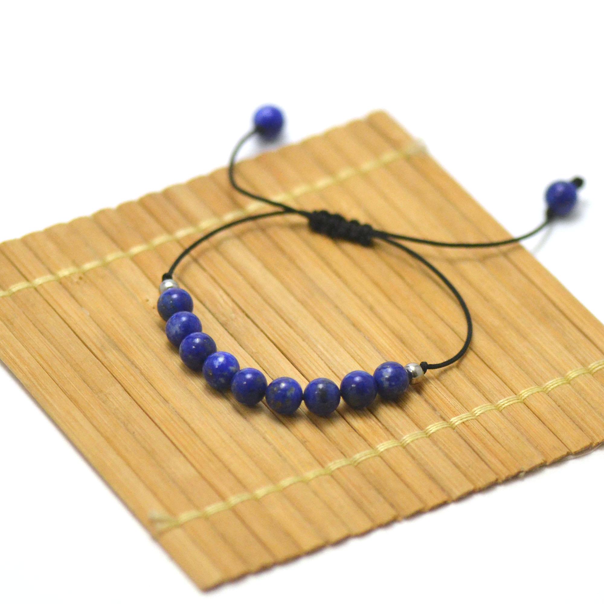 Bracelets Spiritualité et sagesse, en pierre naturelle de lapis lazuli