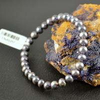 """Bracelet perle d'eau douce """"ronde 6mm"""" noir"""