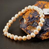 """Bracelet perle d'eau douce """"perle ronde 6mm"""" rose"""