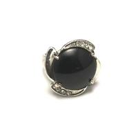 """bague """"pierre naturelle ' onyx"""