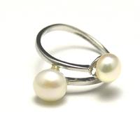 """bague""""perle d'eau douce"""", double perle"""