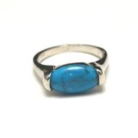 """Bague """"pierre naturelle """", turquoise"""
