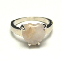 "bague ""pierre naturelle"" , quartz rose"