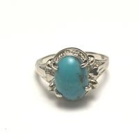"""bague """"pierre naturelle """" turquoise de mexique"""