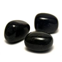 """pierre roulée """"obsidienne"""" naturelle"""