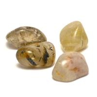 """pierre roulée """"quartz rutile """" naturelle"""