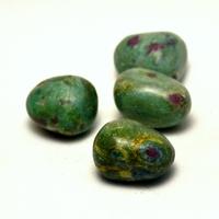 """pierre roulée """" rubis sur fuschite"""" naturelle"""