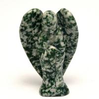 """statuette minéraux """" ange"""", agate arbre"""