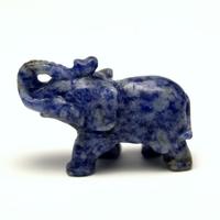 """statuette minéraux """"éléphant"""" en pierre naturelle de sodalite"""
