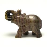 """statuette minéraux """" éléphant"""", en pierre naturelle de stéatite"""