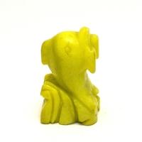 """statuette minéraux """" dauphin"""" , en pierre naturelle de jade néphrite jaune"""