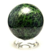 """magnifique sphère en pierre naturelle de """"zoïsite rubis"""",10cm"""