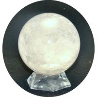"""magnifique sphère en pierre naturelle de """"cristal de roche"""",10cm"""