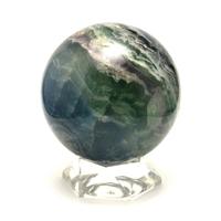 magnifique sphère en pierre naturelle de fluorine,10cm