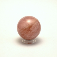 boule en pierre naturelle de quartz rose , 4.5 cm