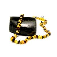 collier ambre perle baroque , 46 cm