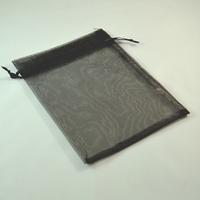 grandes  pochettes cadeaux organza, noir uni