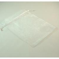 grandes  pochettes cadeaux organza, blanc uni