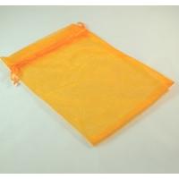 grandes  pochettes cadeaux organza, orange uni