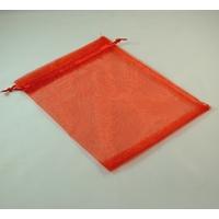 grandes  pochettes cadeaux organza, rouge uni