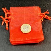 10 petites pochettes cadeaux organza , rouge uni