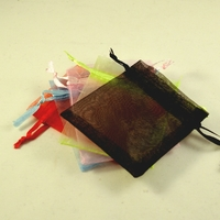 """10 petites pochettes cadeaux organza ,""""uni"""" multicouleur"""