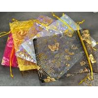 10 pochettes cadeaux taille moyenne en  organza Multi-couleur