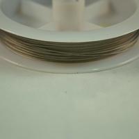 File câblée ,0.38 mm ( bobine de 100 m ) ,couleur: gun métal
