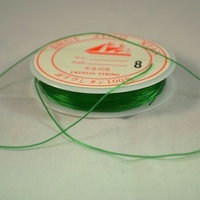 Fils élastique,couleur vert (  une bobine de 5 m)