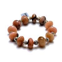 """Bracelet opale rose des Andes """" grandes rondelles"""""""