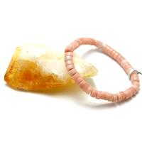 "bracelet opale rose des Andes ""mini rondelle """