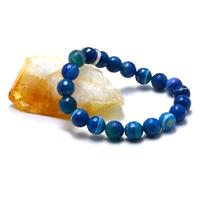 """Bracelet agate teinté bleu """" ronde facettée 10 mm"""""""