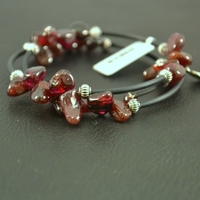 "Bracelet Grenat ""double tour"""