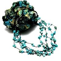 """collier création """"amas d'étoile"""" turquoise"""