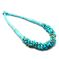 "Collier "" hawaï"" turquoise, pierre naturelle"