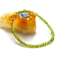 """bracelet péridot """" ronde 4 mm"""""""