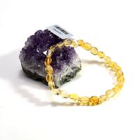 "Bracelet citrine "" mini galet baroque"""