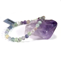 bracelet fluorite, perle ronde 6 mm