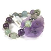 "bracelet fluorine , "" ronde 10 mm ,appret fleur"""