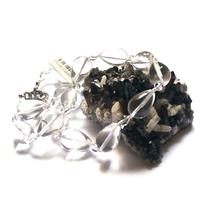 """collier cristal de roche , """"goutte d'eau - ronde 6 mm"""""""