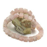 "collier quartz rose "" perle cube"""
