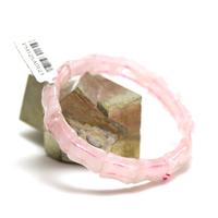 """bracelet quarte rose """" bambou"""""""