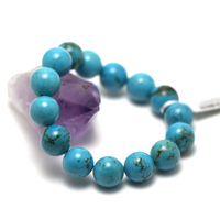 "bracelet turquoise "" perle ronde 14 mm"""