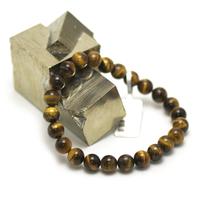 "bracelet oeil du tigre "" perle ronde 8 mm"""