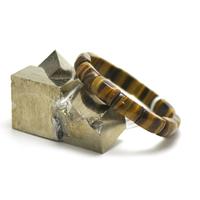 """bracelet oeil du tigre , plaquette """"tranche de jonc"""""""