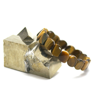 """bracelet oeil du tigre , plaquette """" losange vague"""""""