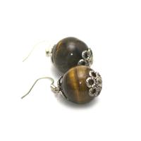 """boucle d'oreille """" perle ronde 16 mm """""""